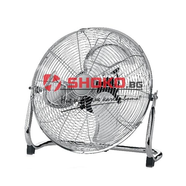 Vintage Φ45 вентилатор с метална рамка с мощност 100W cm45cm 3 скорости в никелов цвят