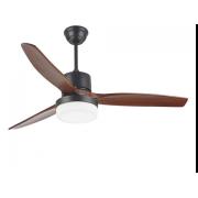 Таванен вентилатор PONENTE  цвят тъмно кафяво-череша LED дистанционно управление мощност 35W/70W ф130cm