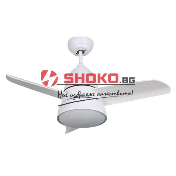 Таванен вентилатор бял цвят MISTRAL дистанционно управление LED мощност 70W ф90cm