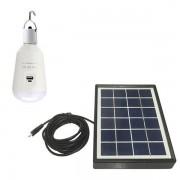 LED 7W E27  70000-8000K120 ° 560lm  със соларен панел и батерия 2600 мАh