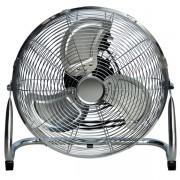 Подов стоящ метален вентилатор 100W с регулируем въздушен поток 160 ° и 3 опции за скорост 45cm в никелов цвят