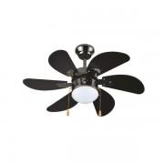 Вентилатор за таван черен Е27 Ф90 70W 147-29313 с 1 осветително тяло