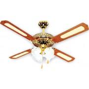 Вентилатор за таван кафяв/злато Е27 Ф130 70W 02-00102-6 с 4 осветителни тела