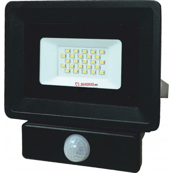 30W LED прожектор непромокаем IP65/модел със сензор  датчик за движение