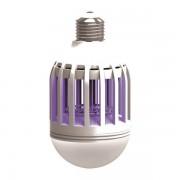 Електрически инсектицид-LED лампа  неутрализираща насекоми  две в едно E27 5W=8W 6500K 180 ° покрива площ 30м²