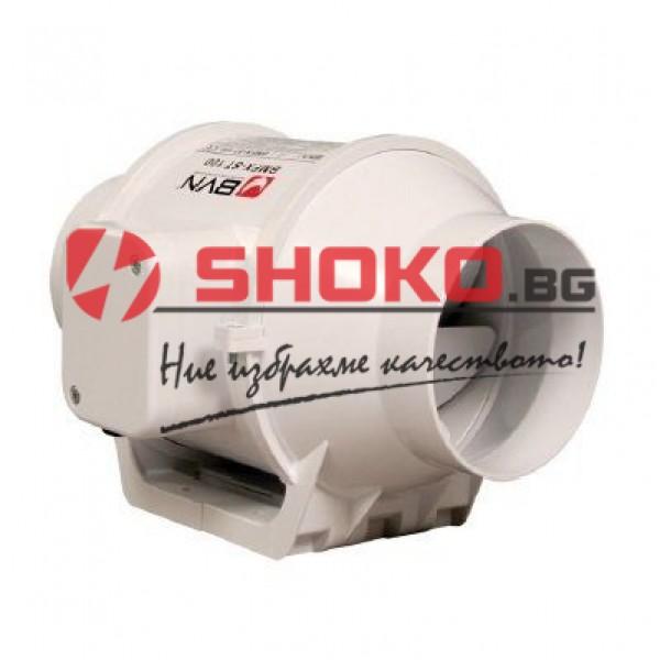 Вентилатор аксиален канален, двускоростен BMFX-ST 125, 33/28W, 300/250m3/h, Ф125mm