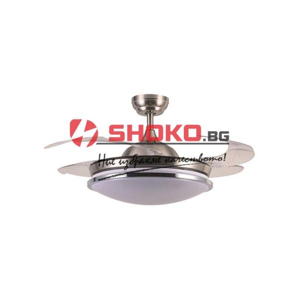 Вентилатор зa таван с вградено LED осветление36W  Ф107 60W 147-29311 2 в 1