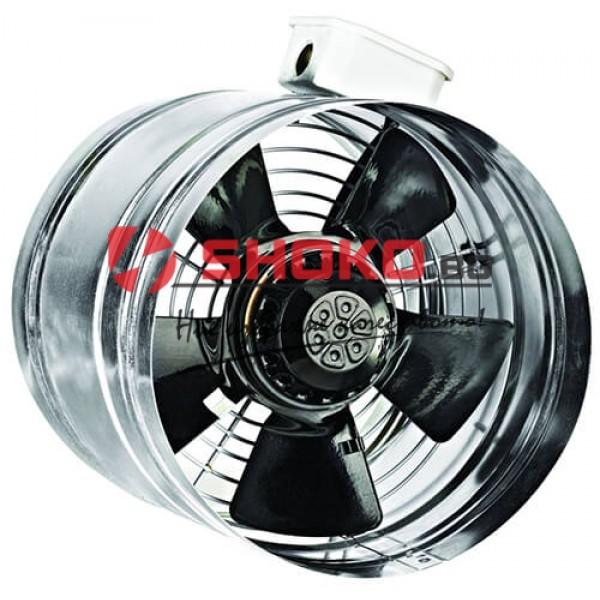Вентилатор, промишлен, аксиален,канален BORAX 200-2K, ф200mm, 220VAC, 70W, 680m3/h