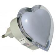 Мини нощна лампа сърце - LED 3х0.1W