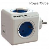 Разклонител PowerCube (Original USB) - 4 гнезда и 2 USB