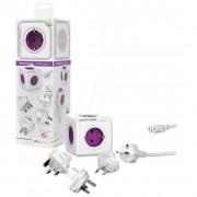 Разклонител PowerCube ReWirable 3x адаптери - 5 гнезда