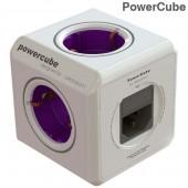 Разклонител PowerCube (ReWirable USB + Plug) - 4 гнезда + сменяем преходник и 2 USB