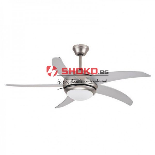 Вентилатор за таван никел мат  Е27 Ф120 70W 147-29009 с 1 осветително тяло