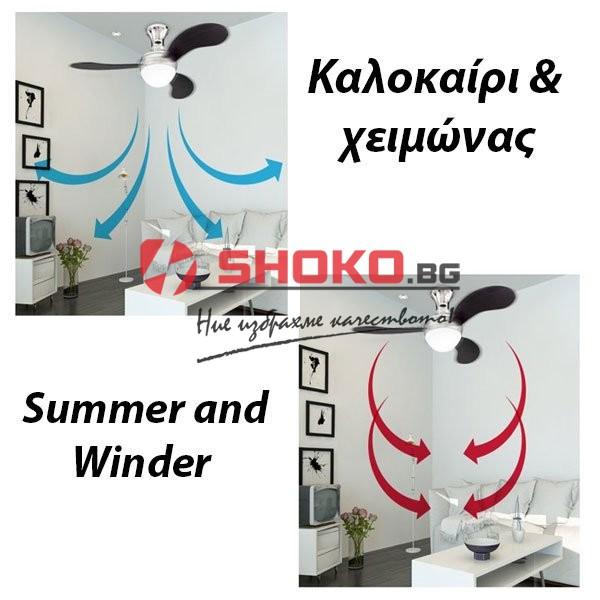 Вентилатор за таван детски Е27 Ф90 70W 147-29016 с 1 осветително тяло