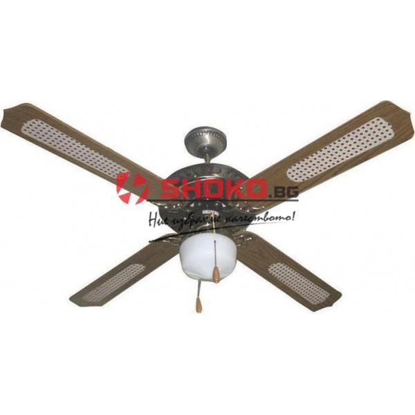 Вентилатор за таван кафяв Е27 Ф130 70W 147-29001 с 1 осветително тяло