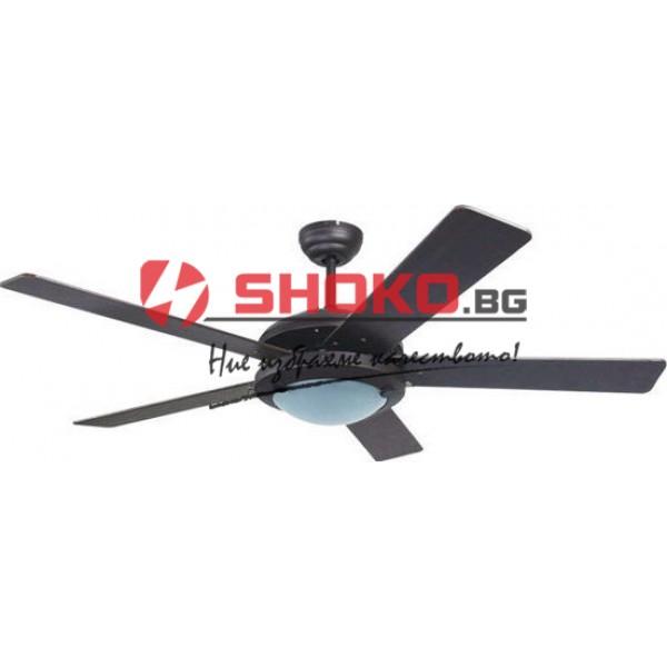 Вентилатор за таван черен Е27 Ф130 70W 147-29316 с 1 осветително тяло