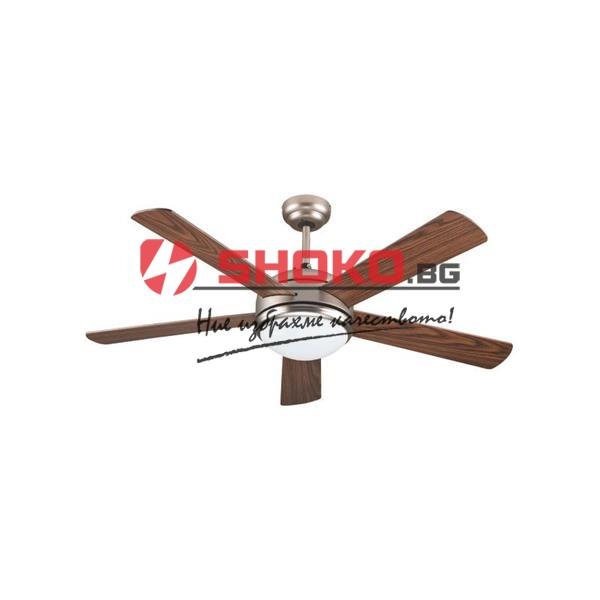 Вентилатор за таван цвят-античен бронз-MDF  Е27 Ф130 70W 147-29006 с 1 осветително тяло