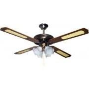 Вентилатор за таван кафяв/античен бронз Е27 Ф130 70W 147-29005 с 4 осветителни тела