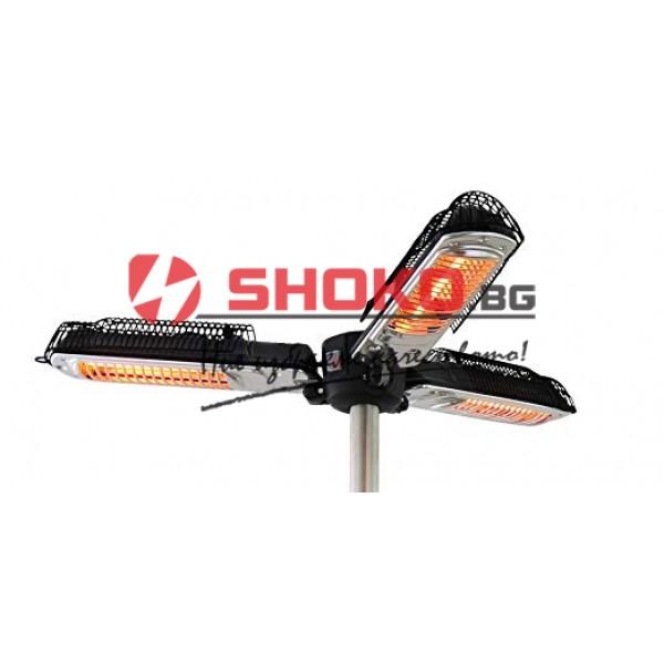 Външен инфрачервен отоплител / чадър 2000W Eurolamp