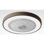 Таванен вентилатор MARIN, цвят КАФЕ, LED, с дистанционно, 45W, ф50cm, 02-00166