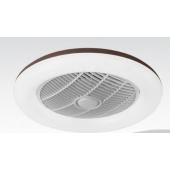 Таванен вентилатор CIERZO, цвят КАФЕ, LED, с дистанционно, 45W, ф55cm, 02-00167