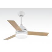 Таванен вентилатор BORA, БЯЛ/ДЪРВО, LED, Wi-Fi управление, дистанционно,70W, ф130 cm, 02-00169