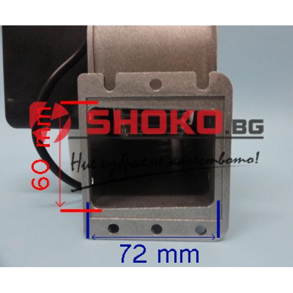 Вентилатор центробежен промишлен - тип охлюв, 2800RPM, 230m3/h, Ф100mm