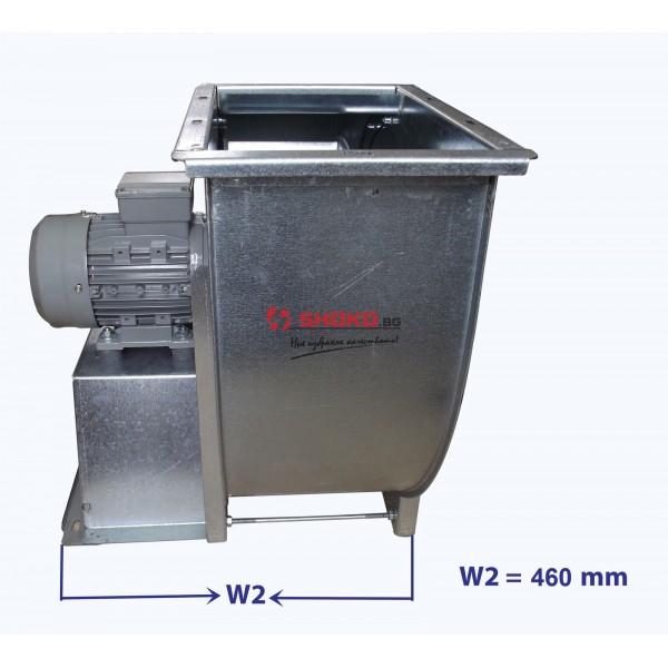 Вентилатор центробежен промишлен - тип охлюв, 1450RPM, 5000m3/h, Ф250mm MF3/5K4