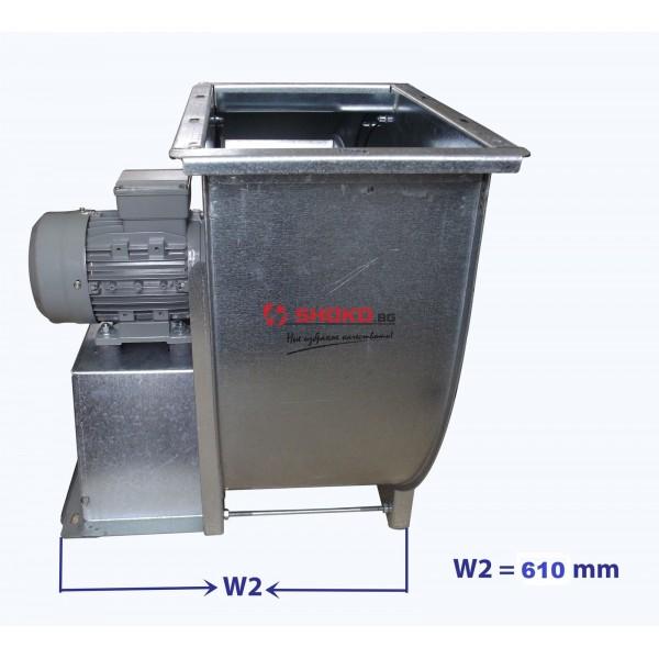 Вентилатор центробежен промишлен - тип охлюв, 1450RPM, 8000m3/h, Ф300mm MF3/8K4